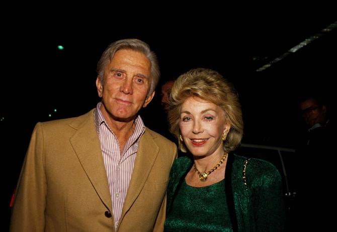 Kirk i En Daglas 1986. u Holivudu