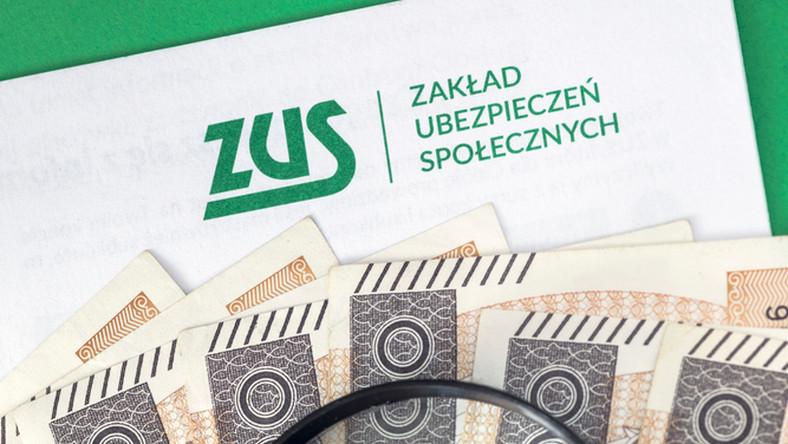 składki zus listopad zwolnienie tarcza pieniądze lupa banknoty