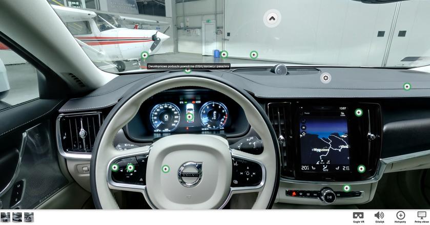 Volvo V90. Zobacz interaktywną panoramę 360