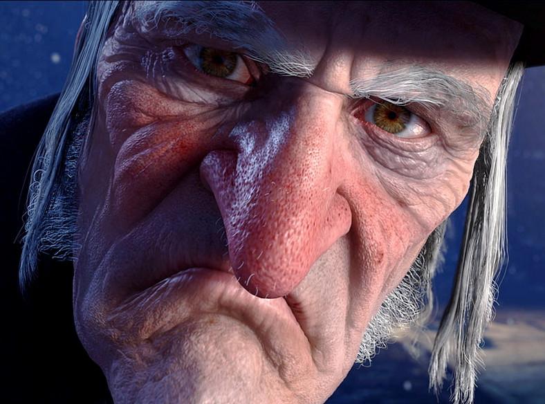 """Kadr z animacji 3D """"Opowieść wigilijna"""", reż. Robert Zemeckis. Premiera w polskich kinach - 20 listopada 2009"""