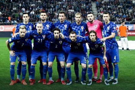 Fudbalska reprezentacija Hrvatske pred početak revanš meča baraža sa Grčkom