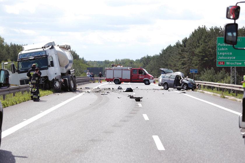 Wypadek na S3 pod Nową Solą