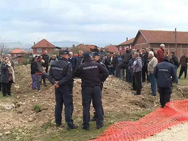Policija štitila seosko gradilište