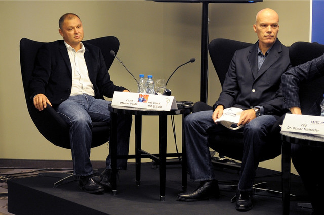 Marjan Vajda (levo) i Gebhard Grič (desno)