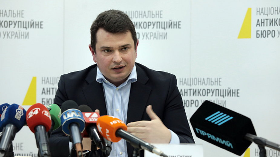 Artiom Sytnik, szef Narodowego Biura Antykorupcyjnego Ukrainy (NABU)