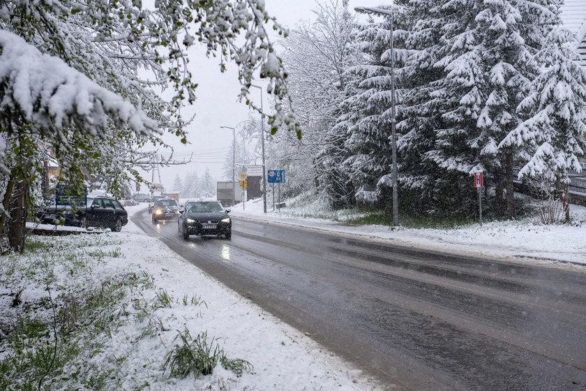 Majowy śnieg pod Tatrami