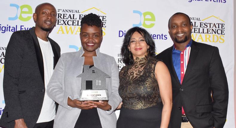 BuyRentKenya wins best real estate marketing platform award. (courtesy)