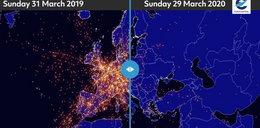 Niezwykły efekt pandemii koronawirusa. Zobacz, jak zmieniło się niebo