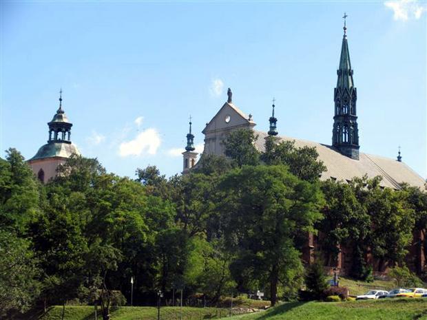 Sandomierz, widok na katedrę