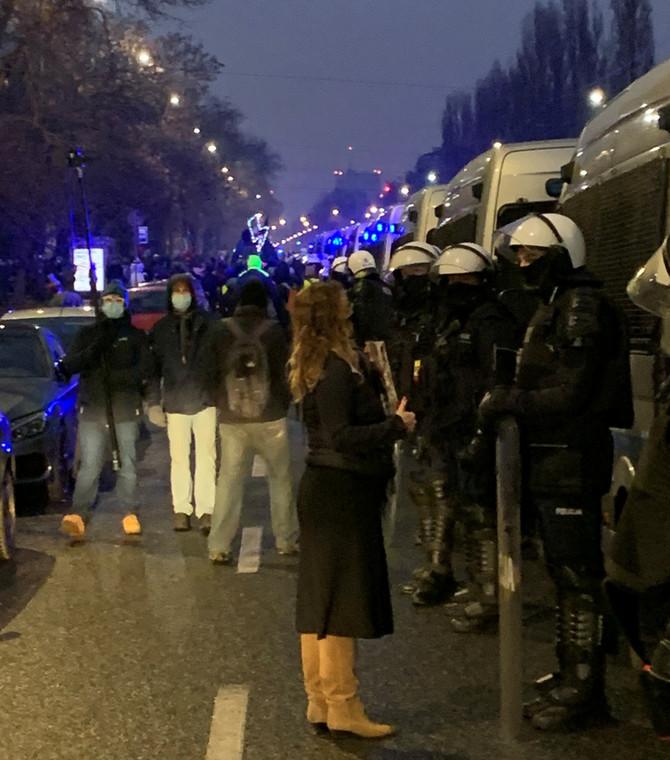Strajk kobiet i przedsiębiorców 13 grudnia 2020 r. (fot. Krzysztof Jedlak)