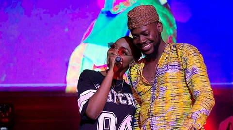 Simi announced the birth of the baby on her Instagram page on Sunday evening with the picture of her husband, Adekunle Gold carrying the baby.