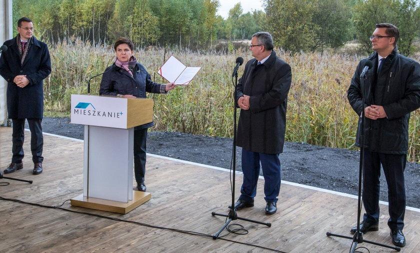 Katowice. Premier Beata Szydło inaguruje program Mieszkanie +