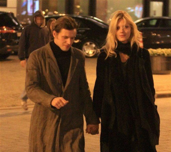 Anja Rubik z mężem