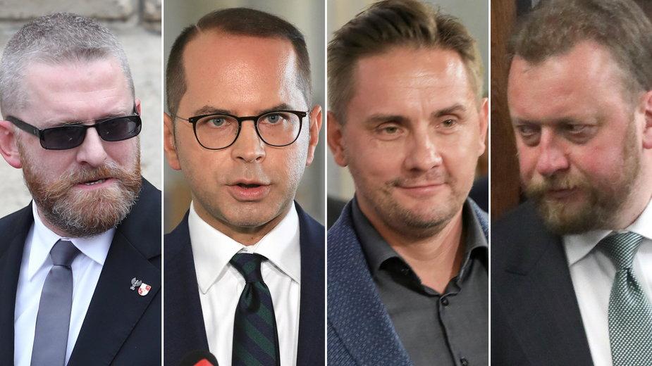 Od lewej: G. Braun, M. Szczerba, P. Krutul, Ł. Szumowski