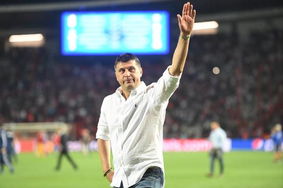 Vladan Milojević na meču FK Crvena zvezda - Olimpijakos