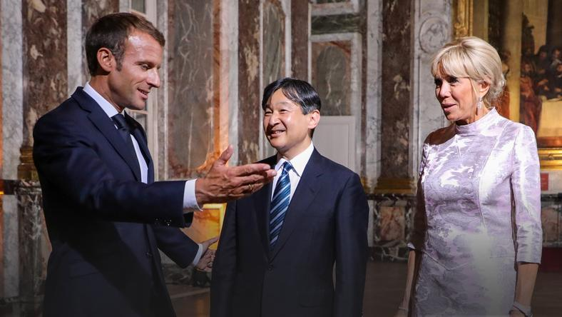 epa07015908 - FRANCE JAPAN DIPLOMACY (French President Emmanuel Macron meets with Japan's Crown Prince Naruhito)
