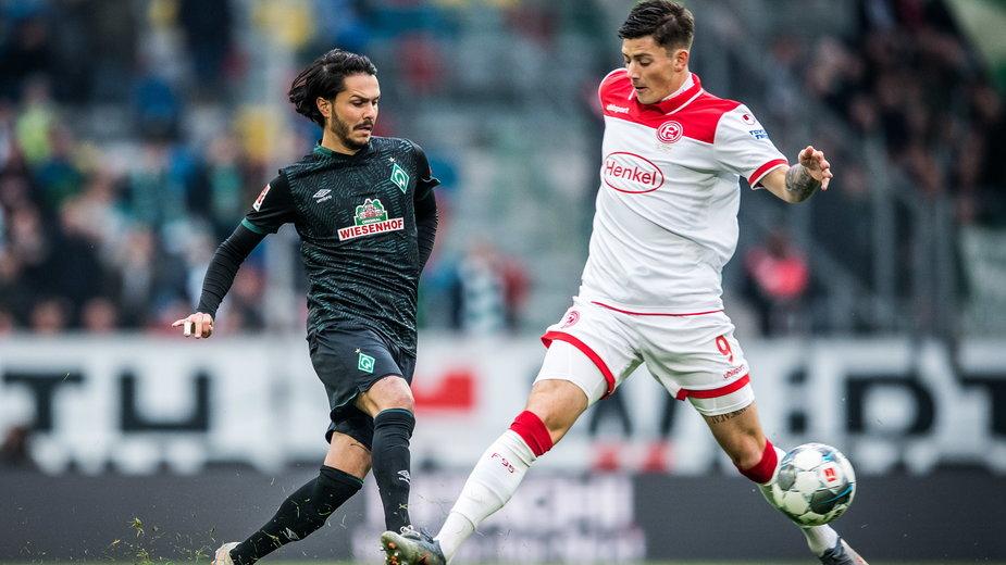 Leonardo Bittencourt (Werder Brema) i Dawid Kownacki (Fortuna Düsseldorf)