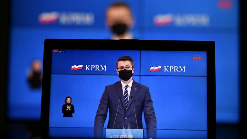 Rzecznik rządu Piotr Mueller