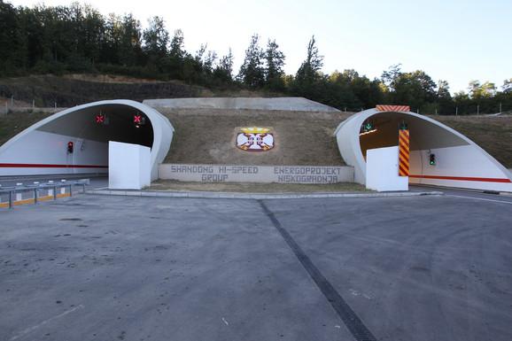 Tunel na autoputu Miloš Veliki