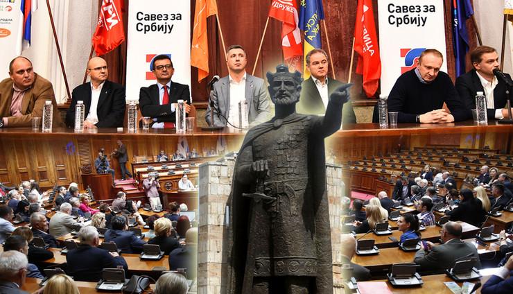 kosovo skupstina kombo RAS Nenad Mihajlovic, Vesna Lalic, tanjug_filip kraincanic