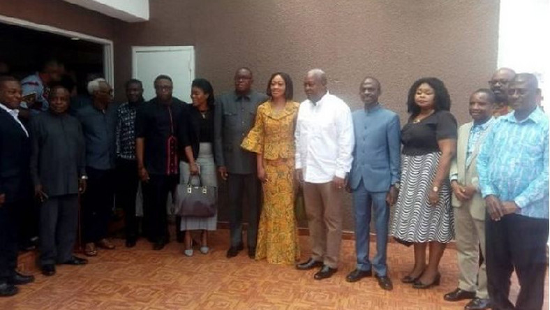 Jean Mensa and NDC executives
