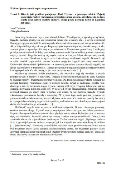 matura 2011 polski wypracowanie