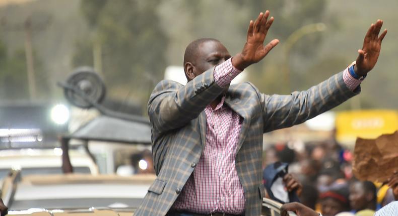 Deputy President William Ruto during a rally in Uasin Gishu County