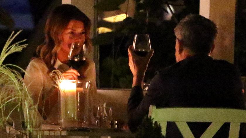 Edyta Górniak i David Foster na kolacji