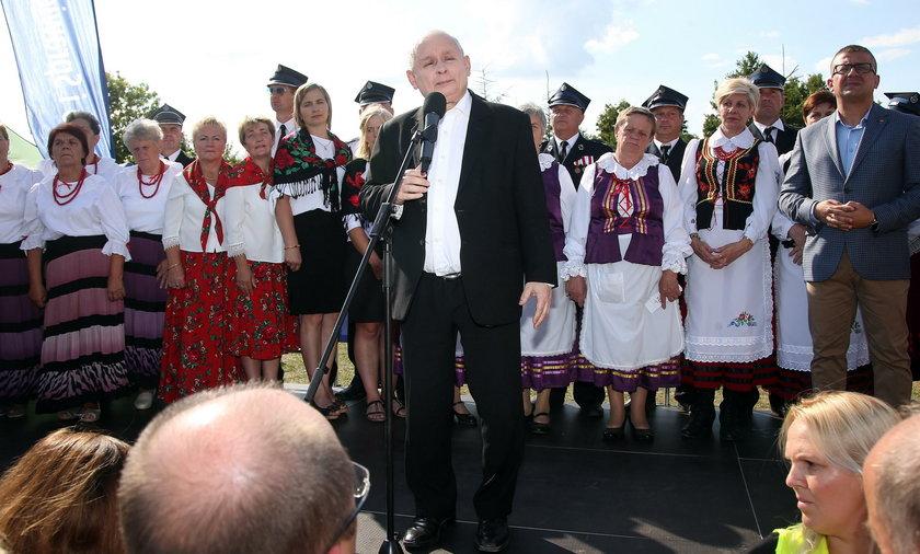 Jarosław Kaczyński na pikniku rodzinnym