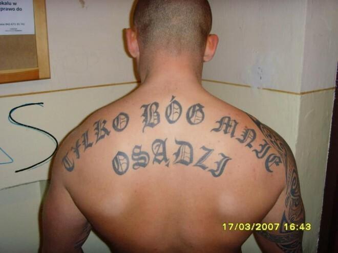 Tatuaże Dresiarzy Wytatuowane Dresy Zdjęcia Tatuaży