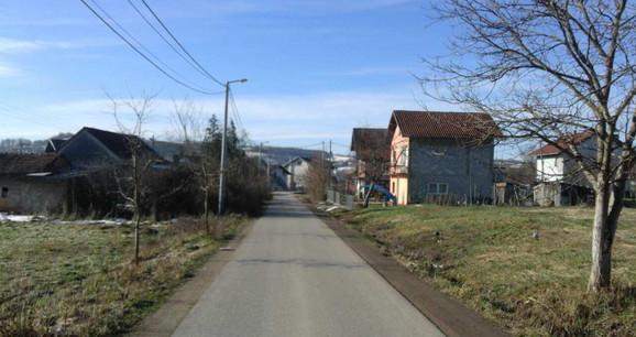 Ulica bez imena u naselju Dragočaj
