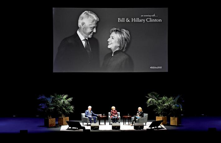 Bill And Hillary Clinton Hold Discussion Series Event In Las Vegas