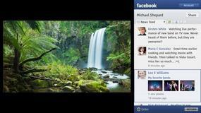 Facebook na ekranie telewizora