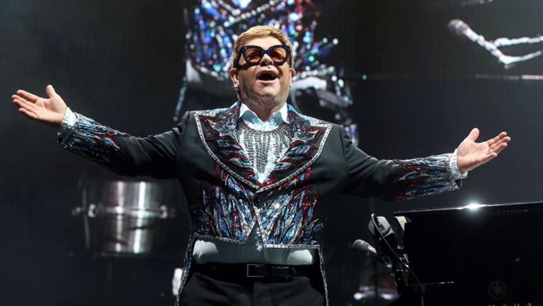 Elton John podczas koncertu w Madrycie, 26 czerwca 2019 rok