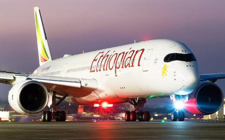 Ethiopian Airlines plane. (The Standard)