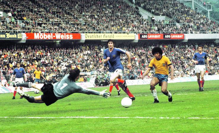 Detalj sa utakmice SP 1974. godine Brazil - Jugoslavija 0:0