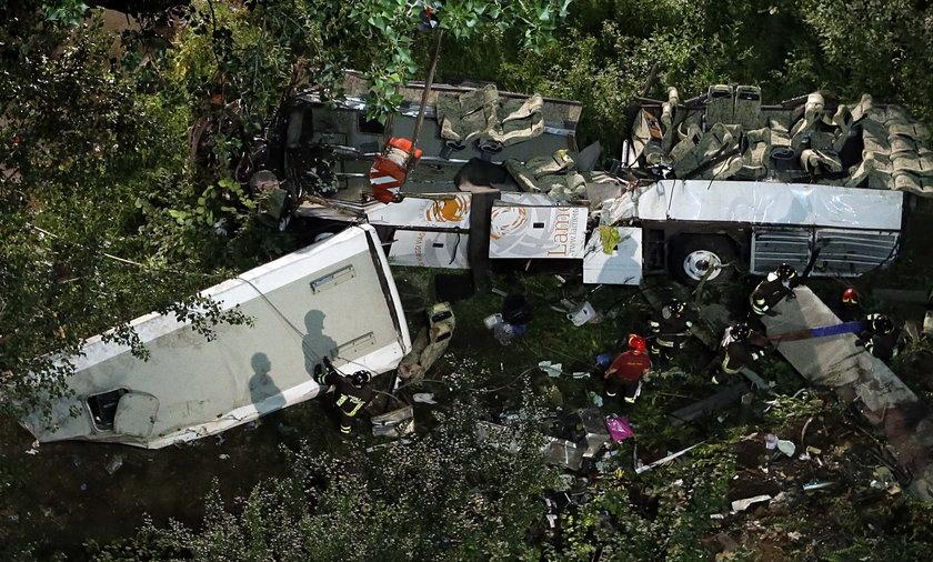 Wypadek autobusu we Włoszech