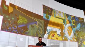 Mural inspirowany twórczością Stanisława Lema ozdobi jedną z galerii handlowych