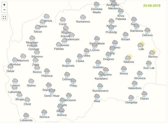 Kiša u svim delovima Makedonije