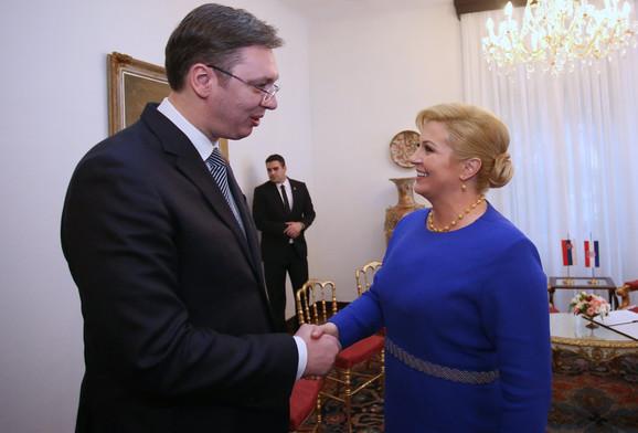 Vučić na inauguraciji hrvatske predsednice