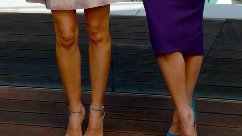 Obie gwiazdy pokazały się w bardzo podobnych butach