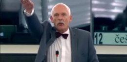 Korwin-Mikke szokuje hitlerowskim gestem WIDEO