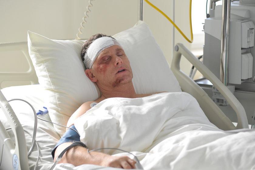 Robert Moskwa w szpitalu
