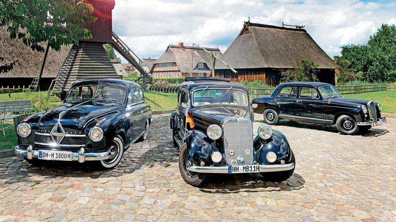 Pierwsze powojenne diesle - Mercedes 170 Db kontra Mercedes 180 D i Borgward Hansa