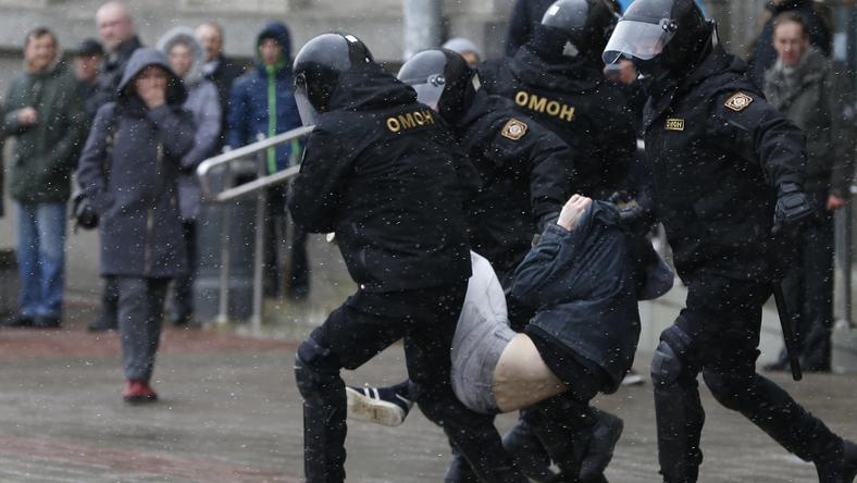 Wczorajsza akcja białoruskich służb wobec protestujących