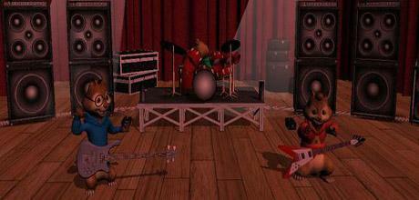 """Screen z gry """"Alvin i wiewiórki"""""""