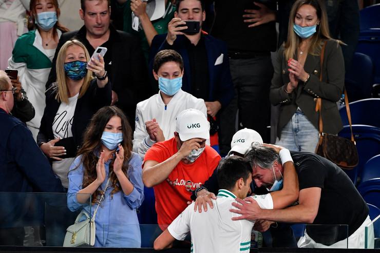 Marija i Luka Jevtić u Novakovoj loži na Australijan openu