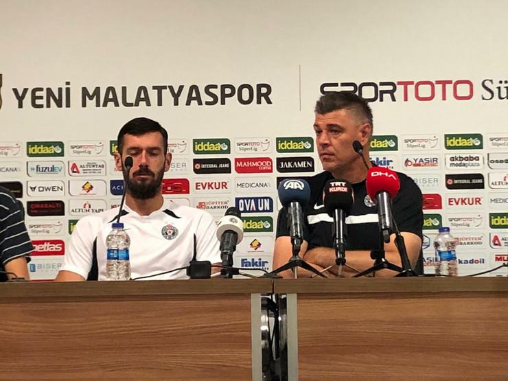 Savo Milošević i Aleksandar Šćekić na konferenciji za medije pred meč Partizana i Malatije