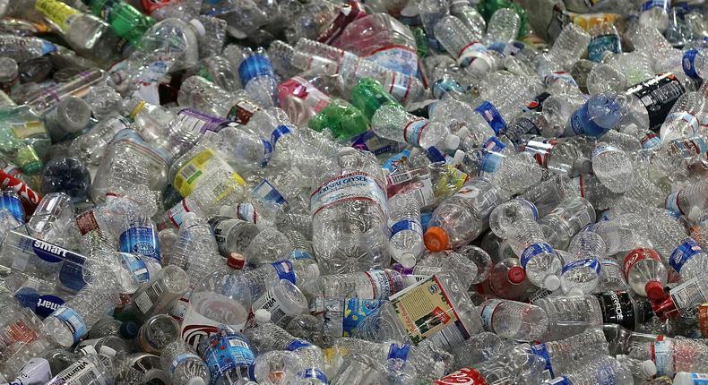Disposed plastic bottles (Twitter)