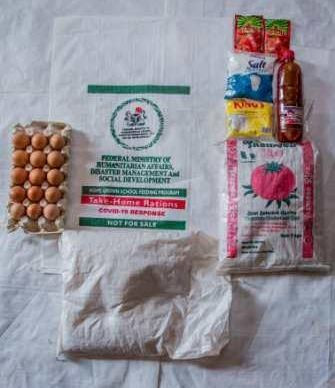 The packaged food items the FG promised pupils of public schools